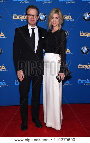 LOS ANGELES - FEB 06:  Tom McCarthy & Wendy Merry arrives to the Directors Guild Awards 2016  on February 06, 2016 in Century City, CA.