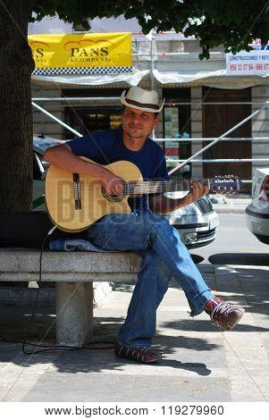 Street Musician, Granada.