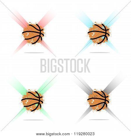 Set Abstract Basketball