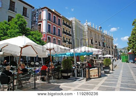 City centre cafes, Granada.