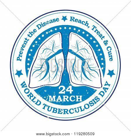 World Tuberculosis Day grunge sticker