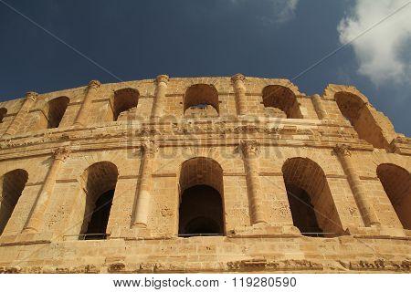 Thysdrus Amphitheater In El Djem