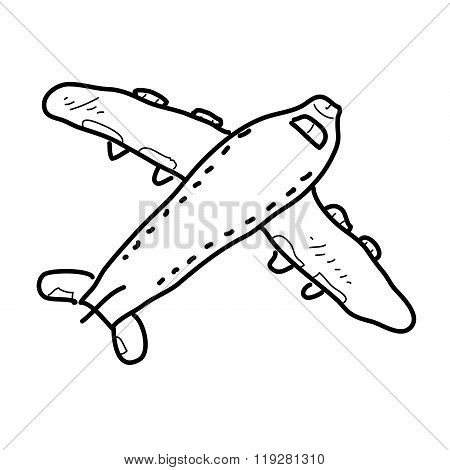 Simple Doodle Of A Aeroplane