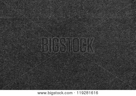 Speckled Textured Monochrome Background From Fabric Of Black Color