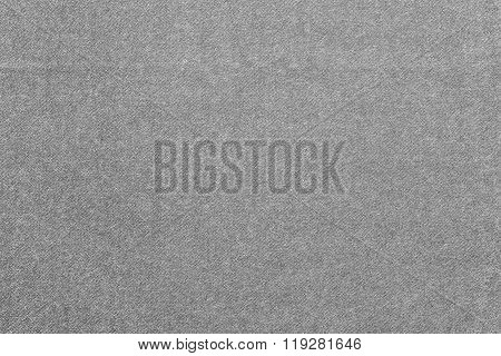 Speckled Textured Monochrome Background From Fabric Of Gray Color