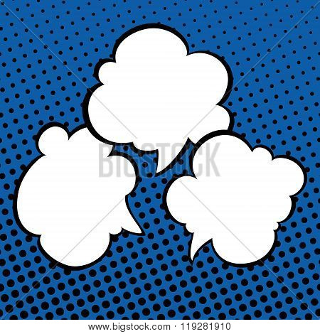 Speech Bubbles on Pop Art Background