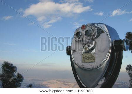 Binoculars On Mountaintop