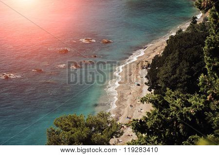 Beautiful Seaside Seen From Above