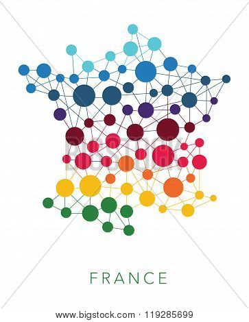 dotted texture France vector background