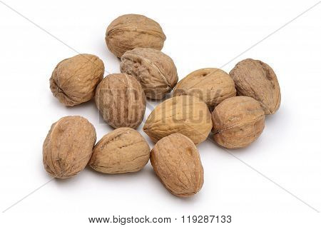 Small Group Of Closed Walnuts