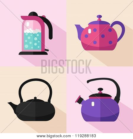 Types of kettles