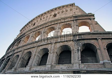 Rome, Italy - December 21, 2012: Colosseum, Also Known As The Flavian Amphitheatre In Rome, Italy