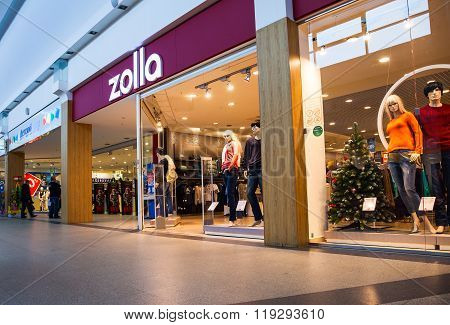Showcase Of Zolla Store In Family Shopping Centre Mega