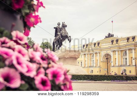 Monument the bronze horseman