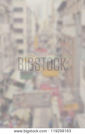 Blur Congested Cityscape 4