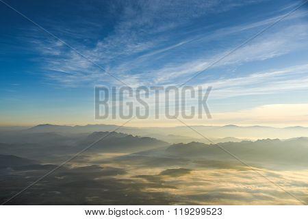 Beautiful Layers Of Mountain Landscape