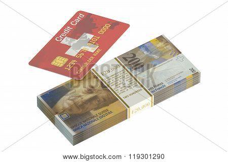 Swiss Credit Card And Swiss Franc