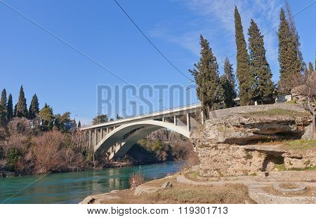 Bridge Of Blazo Jovanovic In Podgorica, Montenegro