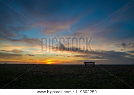 Brighton Bench Sunrise