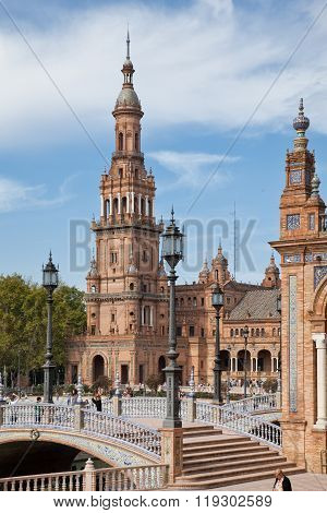 Tower at the Plaza de Espana, Sevilla