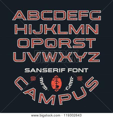 Sanserif Font In Sport Style