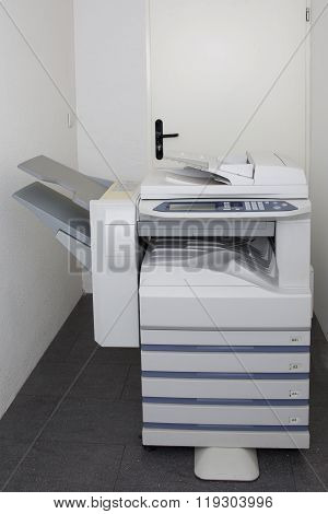 Office Copy Machine Isolated In A White Background