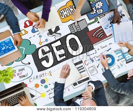 SEO Search Engine Optimization Internet Data Concept