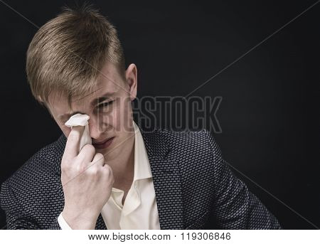 Sad young manager