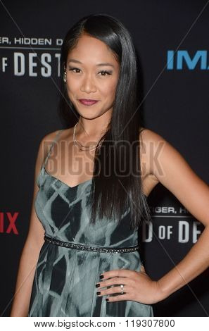 LOS ANGELES - FEB 22:  Shelby Rabara at the Crouching Tiger  Hidden Dragon - Sword of Destiny Premiere at the AMC Universal Citywalk on February 22, 2016 in Universal City, CA