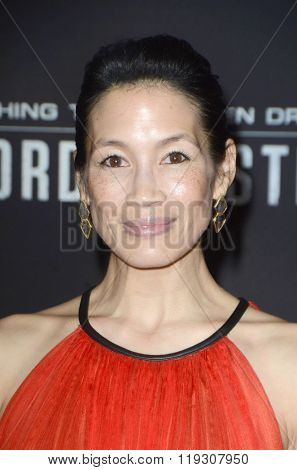 LOS ANGELES - FEB 22:  Eugenia Yuan at the Crouching Tiger  Hidden Dragon - Sword of Destiny Premiere at the AMC Universal Citywalk on February 22, 2016 in Universal City, CA