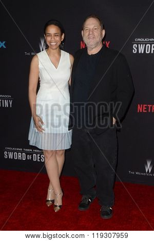 LOS ANGELES - FEB 22:  Harvey Weinstein at the Crouching Tiger  Hidden Dragon - Sword of Destiny Premiere at the AMC Universal Citywalk on February 22, 2016 in Universal City, CA