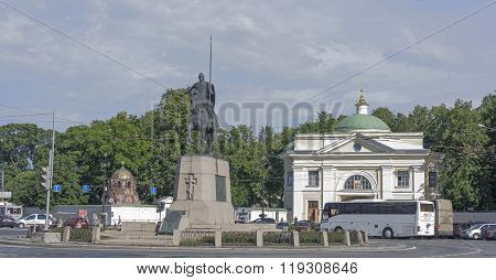 Monument To Alexander Nevsky  In St. Petersburg