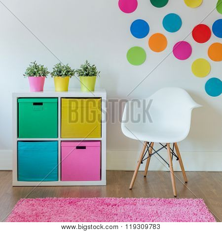 Colorful interior designed for child