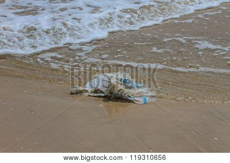 Garbage On A Beach
