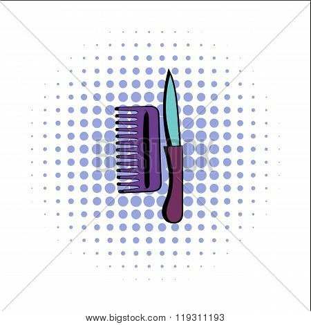 Comb and razor comics icon