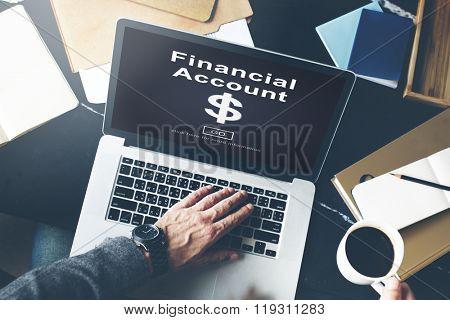 Financial Account Dollar Sign Go Concept