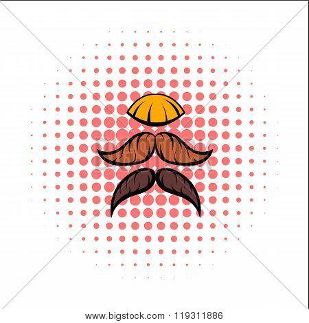 Mustache comics icon