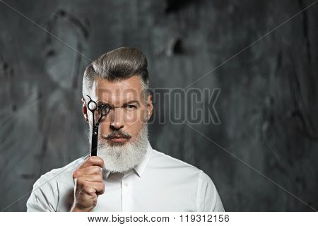 Concept for stylish adult man with beard