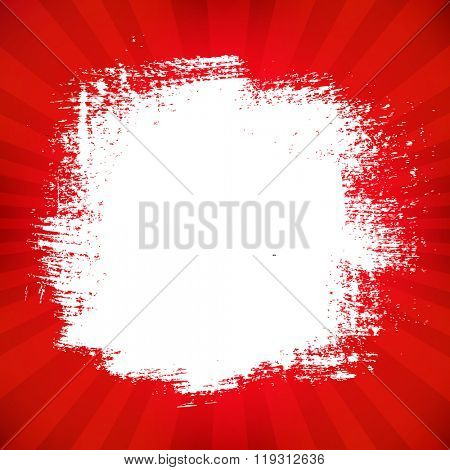Red Poster With Blot