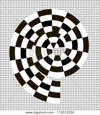 Black and white abstract spiral
