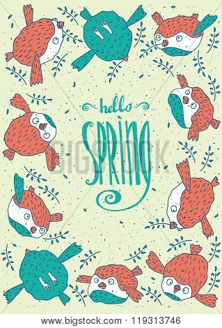 Frame From Birds With Hello Spring