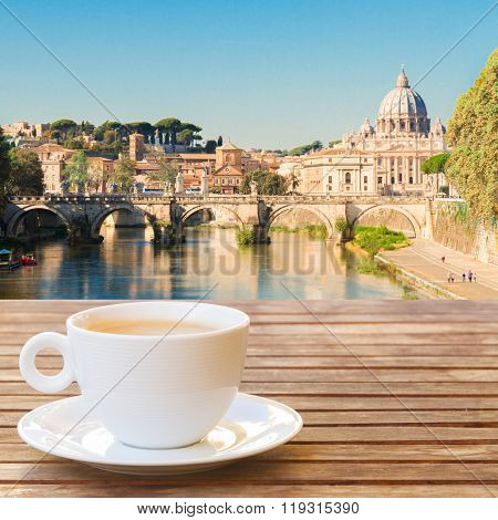 Cup of coffee in Rome