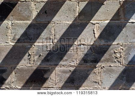 Texture of the masonry from slag stones