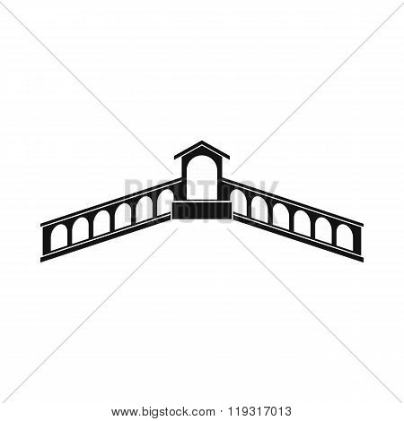 Rialto Bridge, Venice icon, simple style