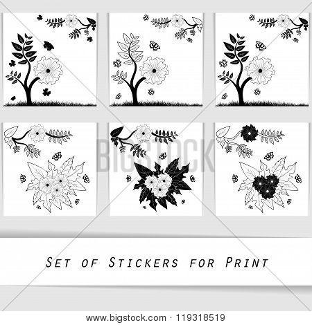 flower silhouette decorative element