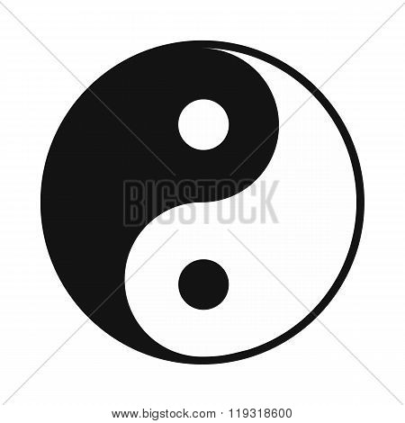 Ying yang icon, simple style