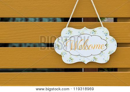 Welcome Sign Board.