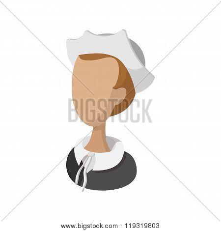 Pilgrim girl cartoon icon