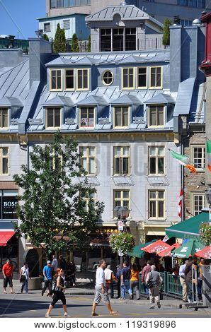 French style Houses in Old Quebec City, Canada