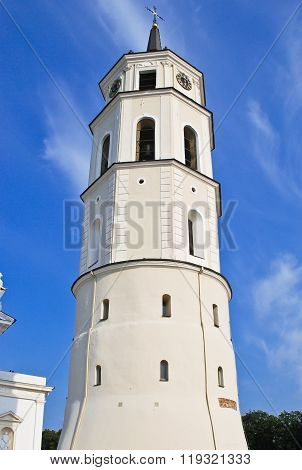 Belfry near Vilnius Cathedral Basilica